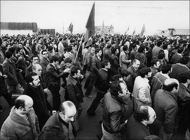 Manifestación de trabajadores de SEAT, hacia 1979. ANC.fonsPSUC