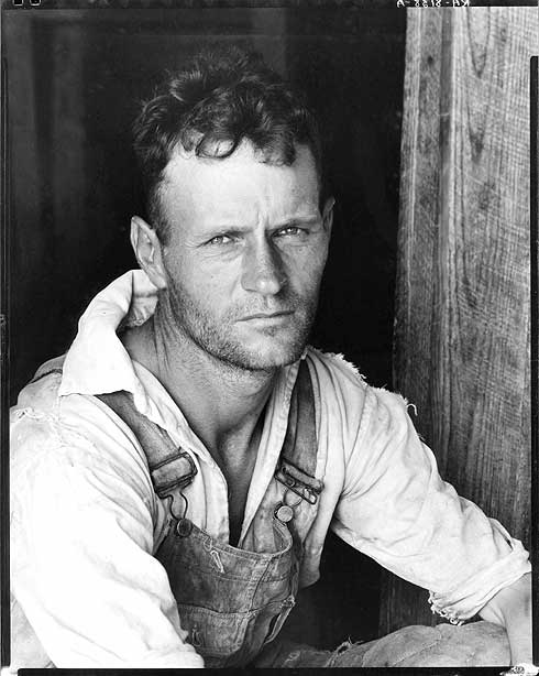 loyd Burroughs, cotton sharecropper. Hale County, Alabama-Walker Evans 1936 [Library of Congress, Prints & Photographs Division, FSA-OWI Collection]