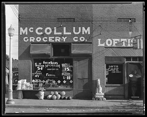 Grocery store. Greensboro, Alabama-Walker Evans 1936  [Library of Congress, Prints & Photographs Division, FSA-OWI Collection]