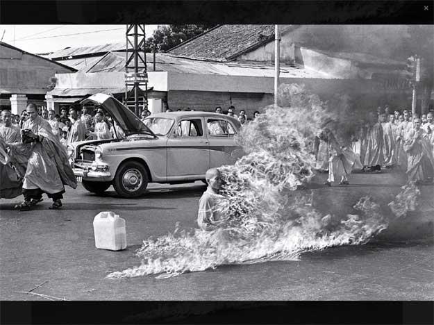 Bonzo quemándose. Malcolm Browne