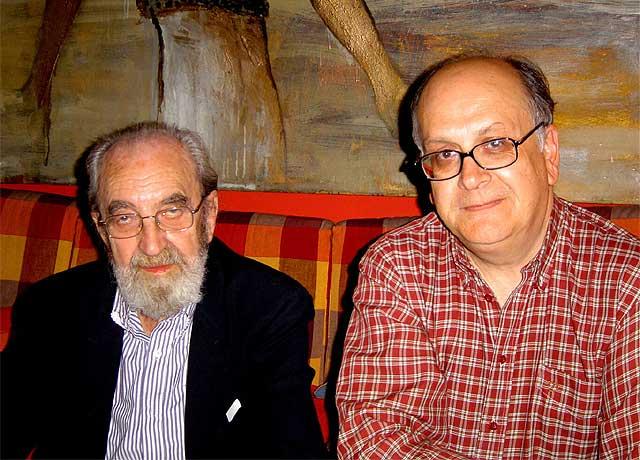 Ángel González y Álvaro Salvador