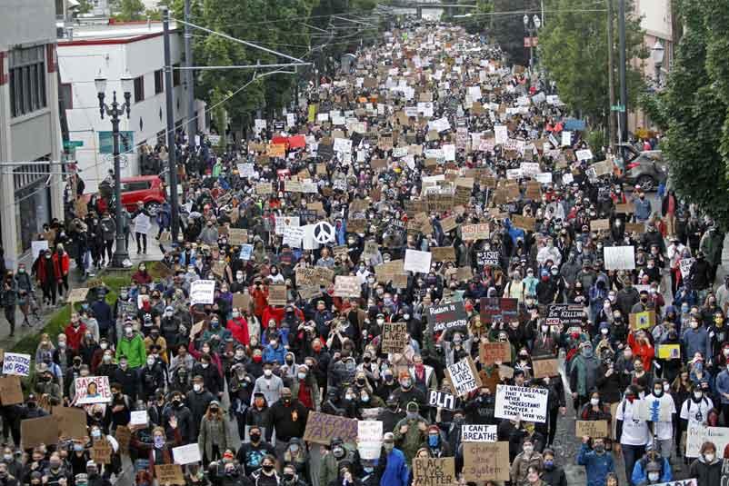 100 days of Black Lives Matter protests in Portland. Sean Meagher