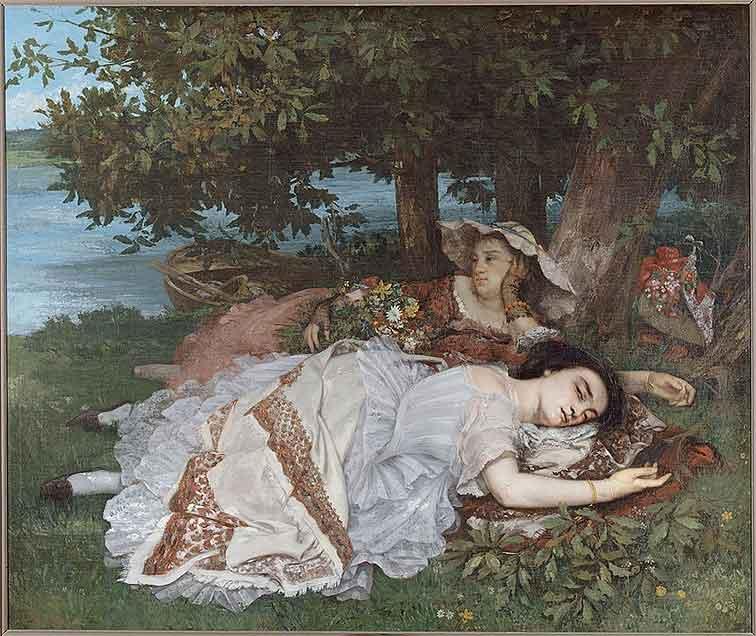 Les demoiselles des bords de la Seine (été), Gustave Courbet, 1856