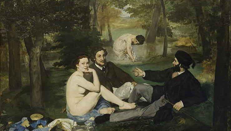 Le déjeuner sur l'herbe, Courbet, 1863