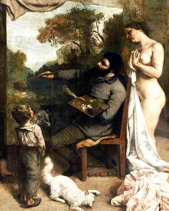 L'Atelier du peintre, Gustave Courbet, 1855
