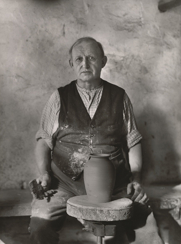 August Sander. The Last Potter of an Ancient Craft, Master Mück. 1927