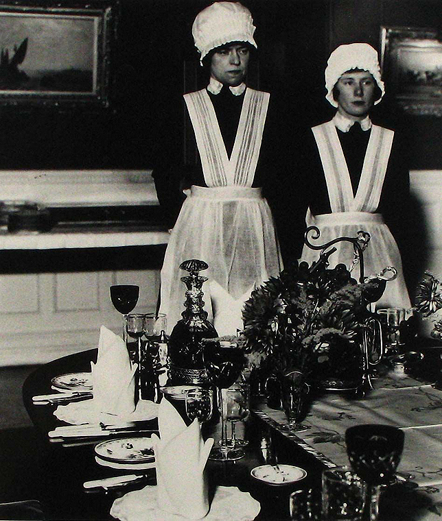 Bill Brandt- Parlourmaid and Under-parlourmaid Ready to Serve Dinner 1936