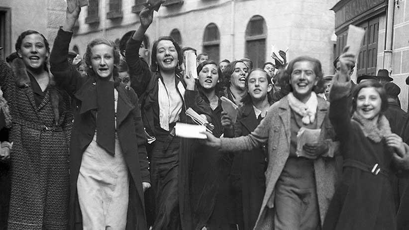 1933, el primer voto femenino