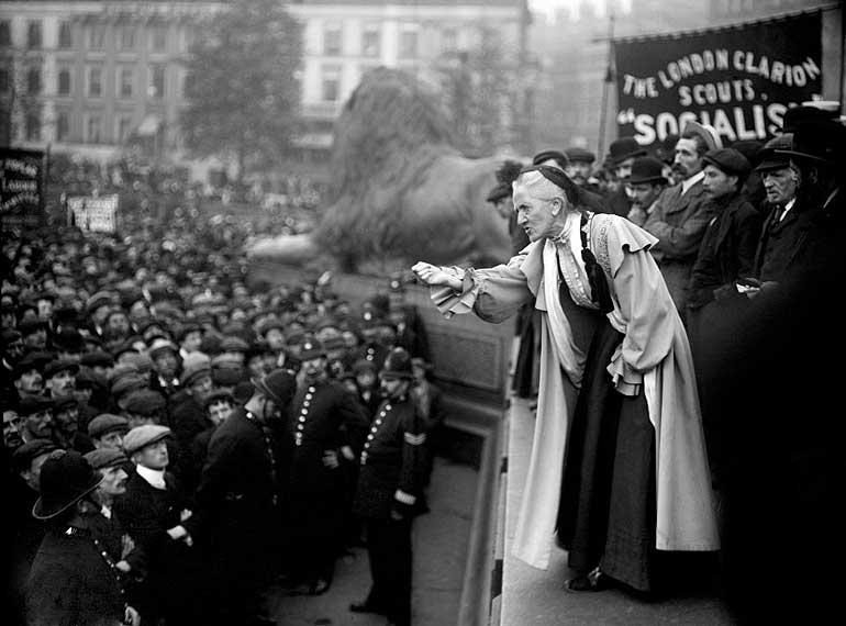 El 1 de junio de 1910, la sufragista británica Charlotte Despard