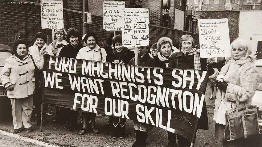 Huelga de las 187 costureras de la fábrica de Ford de Dagenham, 1968