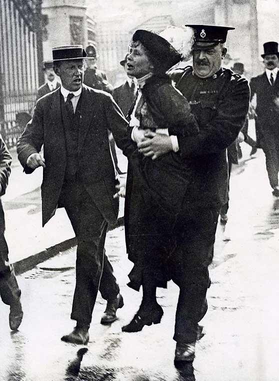 Emmeline Pankhurst arrestada (1907-1914)