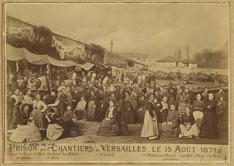 Portrait de Michel Louise a la prison des chantiers. 1871. Ernest Charles appert